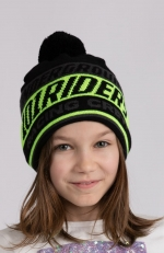 TECH IN BEANIE POM neon/blk